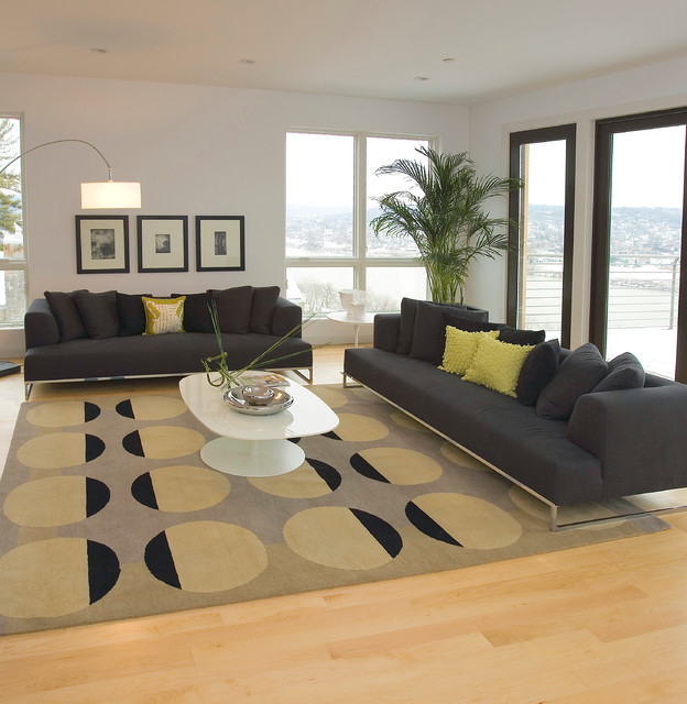 Million Dollar Modern Condo Contemporary Living Room Cincinnati By Rvp Photography