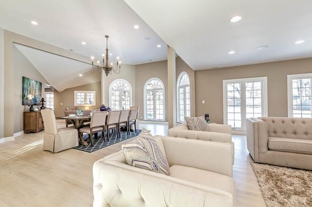 Million dollar renovation in glencoe il transitional for Million dollar living rooms