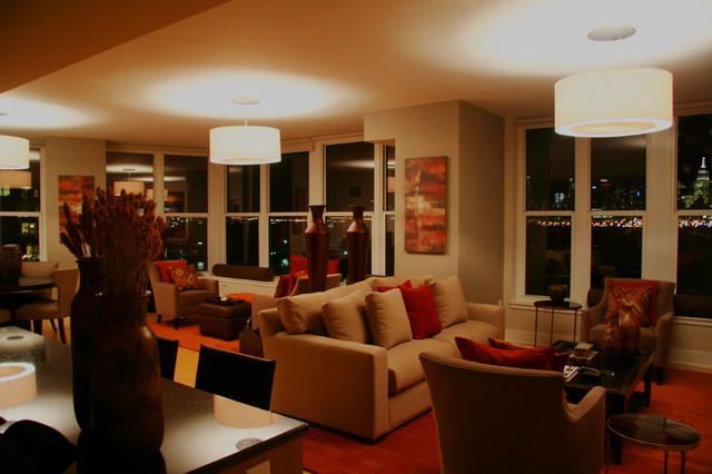 Modern Lofts traditional-living-room