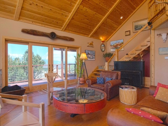 Million Dollar Views Rustic Living Room Denver By Westcliffe Properties Inc
