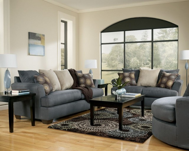 Mindy - Indigo Living Room Set - traditional - living room - new