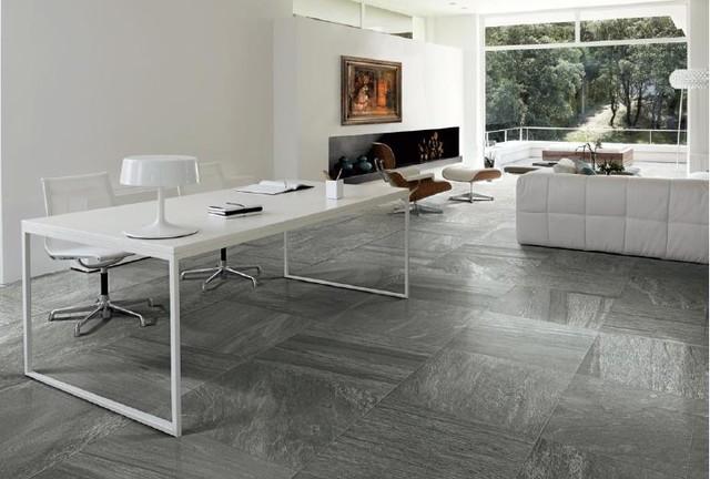 Mineral D. Galena Porcelain Tile - Modern - Living Room ...