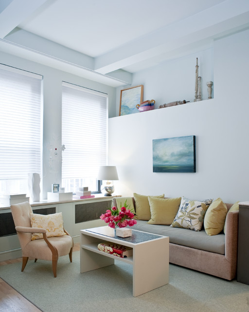 Mini Loft Contemporary Living Room New York By Fo