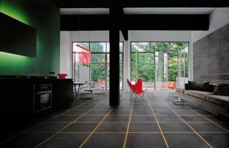 Minimal Tile Lookl modern-living-room