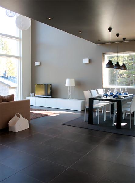 Minimalist Interior With Earth Tones Contemporary