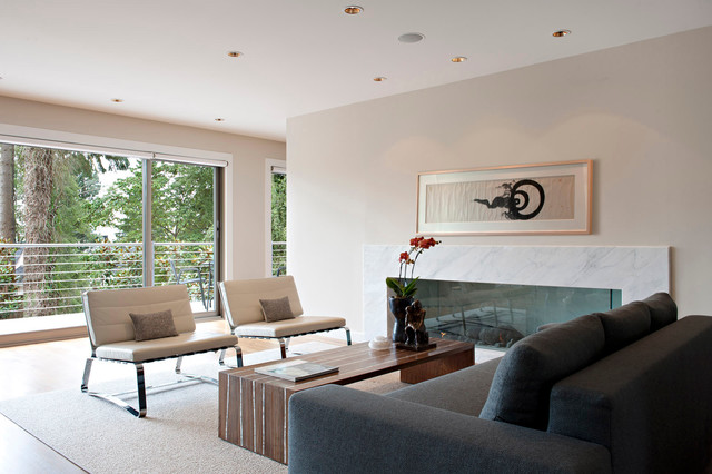 Minimalist Midcentury Modern Living Room Vancouver By Van Sickle Design Consultants Inc