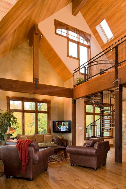 Mining Retreat: 2007 Parade of Homes Winner rustic-living-room