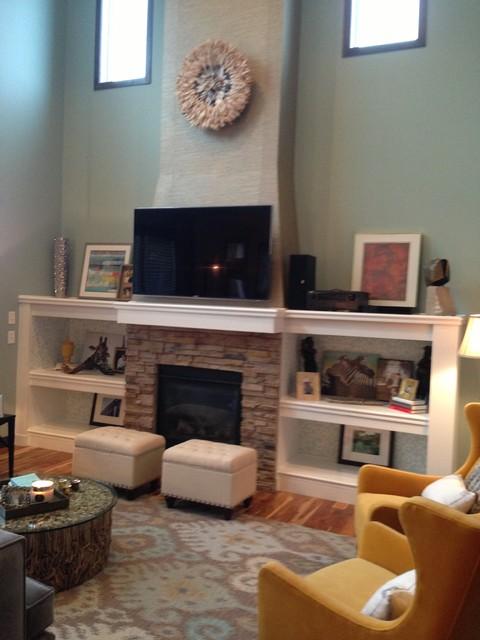 Minneapolis Interior Designer - Cottage Contemporary by Tiffany Hanken Design traditional-living-room