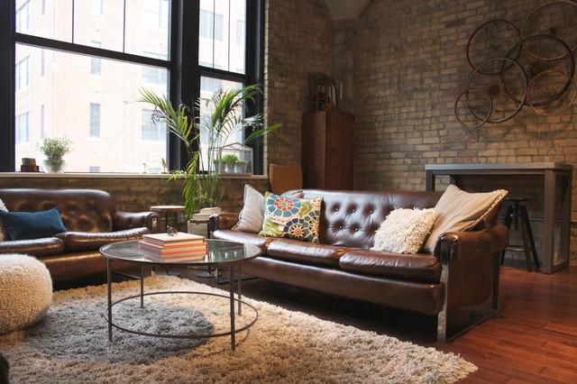 Minneapolis loft apartment contemporary-living-room