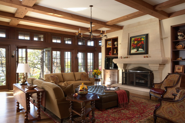 Minneapolis Tudor Residence Traditional Living Room