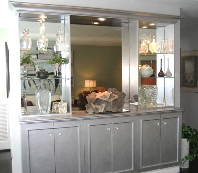 mirrored built in buffet forest hill transitional