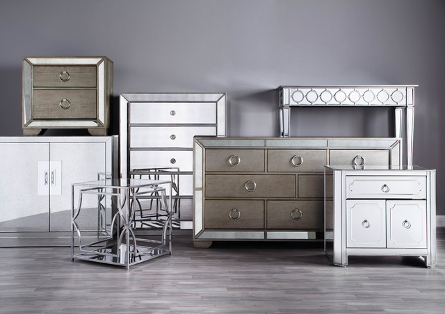 mirrored furniture collection