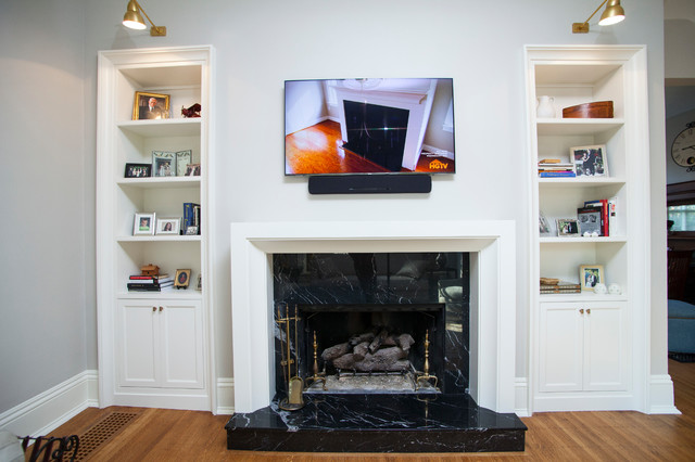 Living room photo in Indianapolis