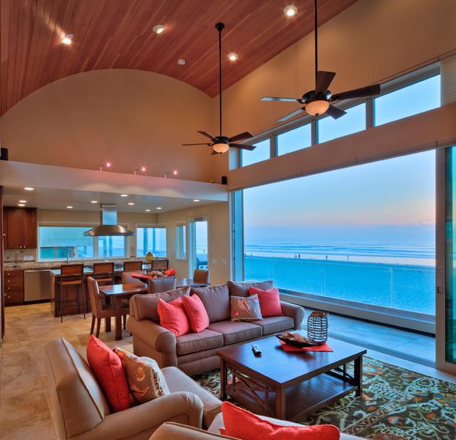 Living Room San Diego : Mission Beach House - Beach Style - Living Room - San ...