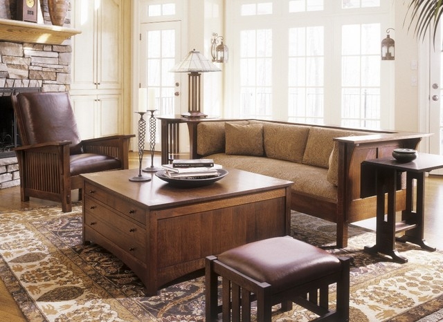 Mission Collection Craftsman Living Room New York By Stickley Furniture