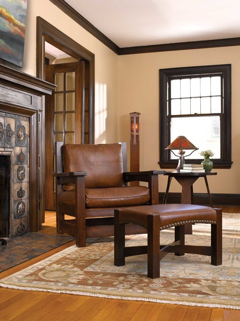 Mission Collection craftsman-living-room