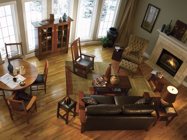 Mission collection stickley furniture craftsman for Living room designs with oak furniture