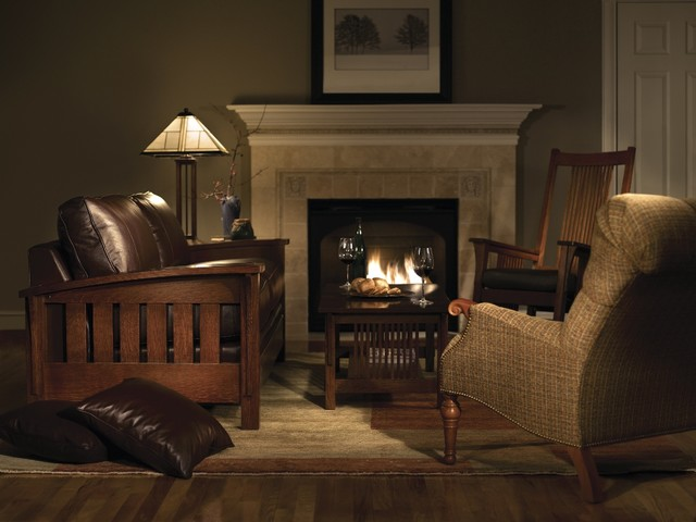 Mission collection stickley furniture craftsman living for Old style living room ideas