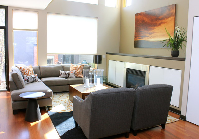 Mission townhouse calgary contemporary living room for Mission living room ideas