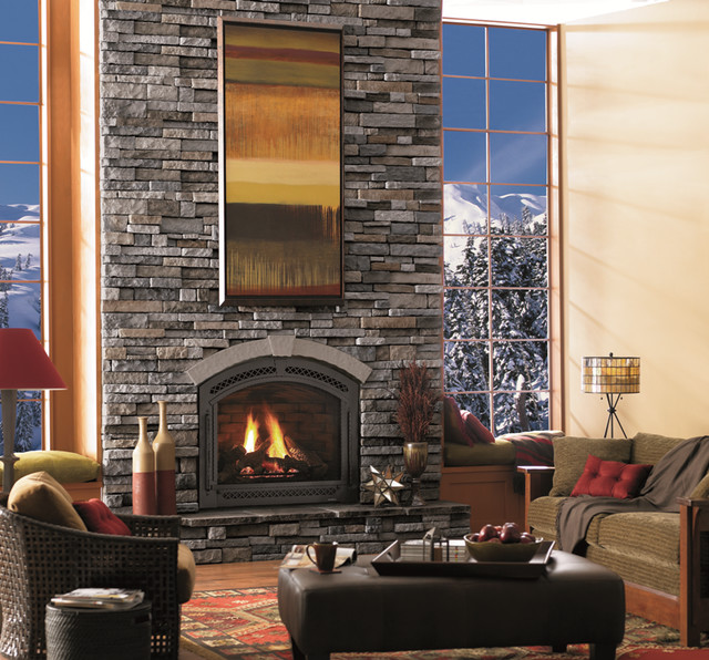 Mist Drystack Fireplace Contemporary Living Room Ottawa By Merkley Supply