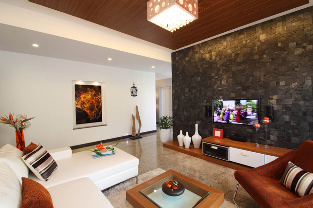 Misty haven villa contemporary living room other for Villa interior design bangalore