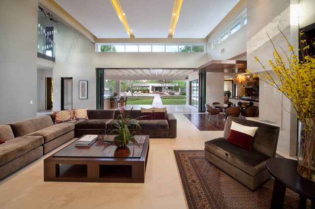 Miwa Modern Living Room Orlando By Phil Kean