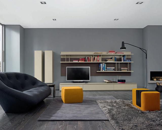 mixte modular wall unit by ligne roset contemporary living room chicago by ligne roset. Black Bedroom Furniture Sets. Home Design Ideas