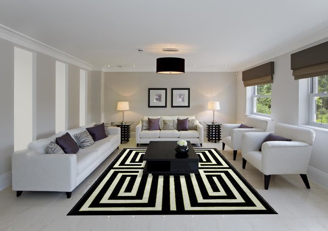 Modern Living Room Rugs ml portfolio - modern - living room - houston -madison lily rugs