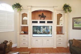 Custom Wall Units Naples Fl Traditional Living Room