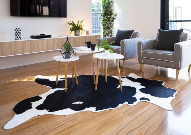 Mocka Faux Cowhide Rug Rustic Living Room Christchurch