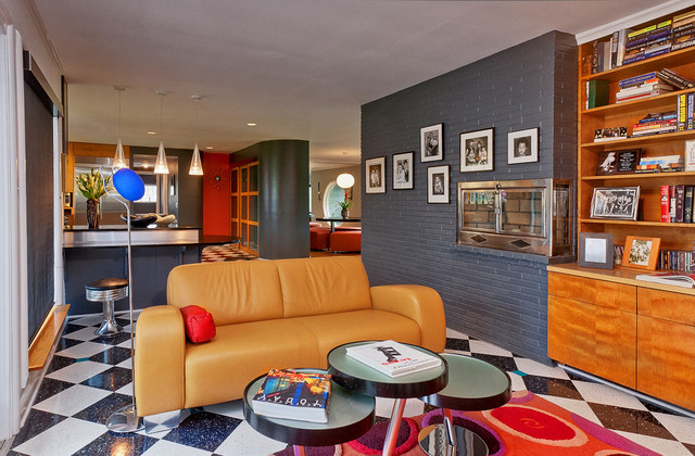 mod space contemporary living room nashville by the funky umbrella