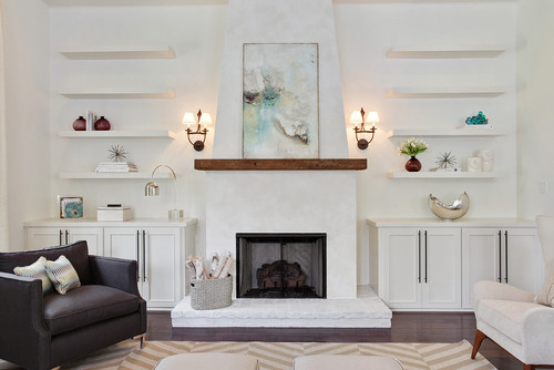 Beautiful fireplace! Is it stucco or plaster?