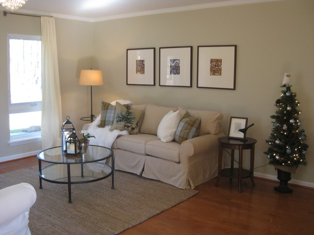 Model Home Transitional Living Room Raleigh By Brian H Murray Interior Design