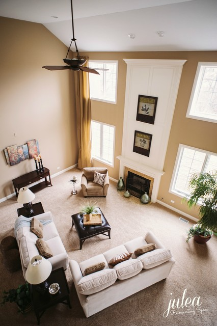Model Home Design & Merchandising - traditional - living room ...
