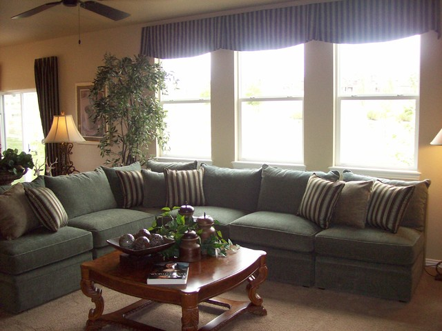 Model home portfolio traditional living room denver Model home family room pictures