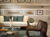 Babson - tropical - living room - miami - by Causa Design Group
