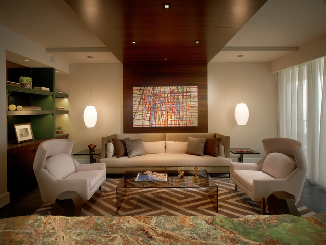 Model Residences at the St. Regis Resort, Bal Harbour eclectic-living-room