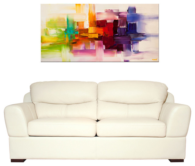 Modern Abstract Paintings Modern Living Room Miami