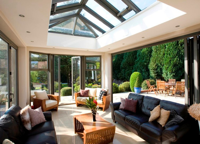 Modern And Contemporary Bespoke Glass Extensions   Interiors And  ExteriorsModern Living Room, London