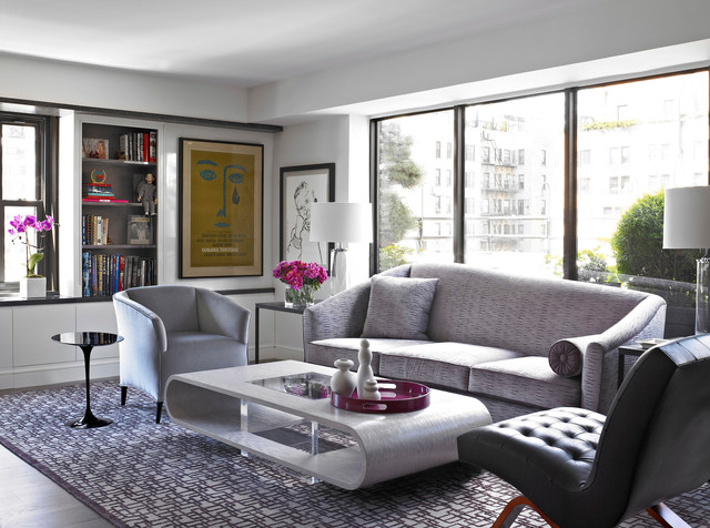 Modern apartment nyc contemporary living room new for Living room decorating ideas nyc