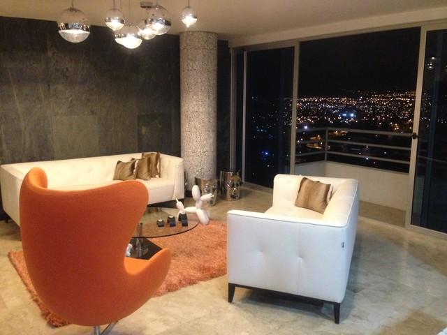 Modern apartment San José modern-living-room