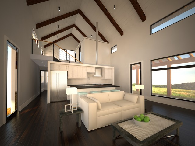 Modern Barn House Modern Living Room Other By
