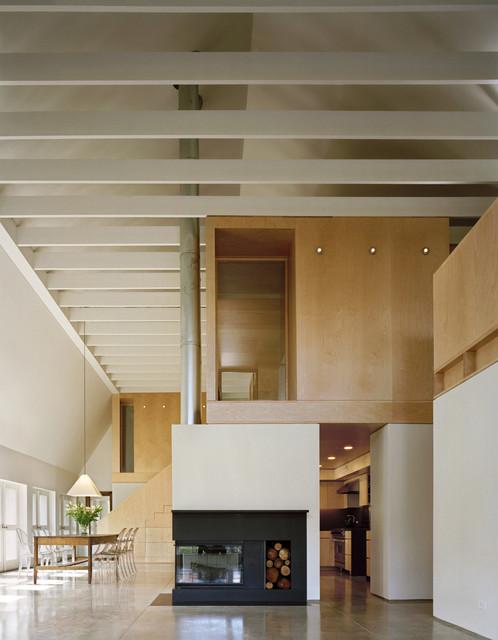 Modern Barn Living Room contemporary-living-room