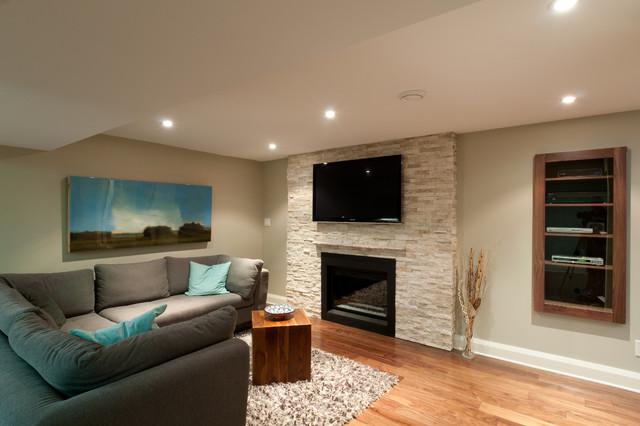 basement transitional family room - photo #36