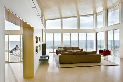 Modern Beach Home Waterviews modern living room