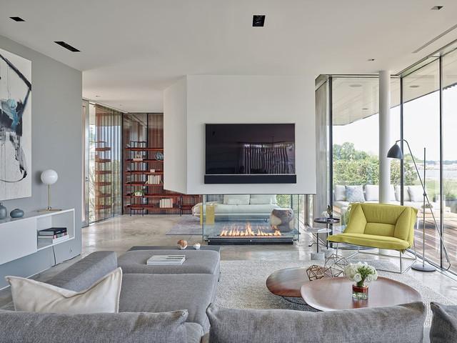 Modern Beach House Contemporary Living Room New York
