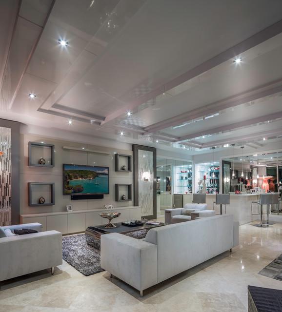 Modern Boca Raton Condo Modern Living Room Other Metro By Zelman Style Interiors
