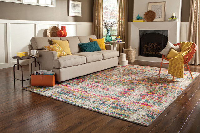 Modern Bright Colored Area Rug Living Room
