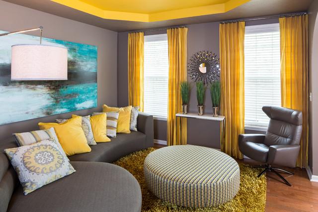 Modern Brownsburg Home Contemporary Living Room