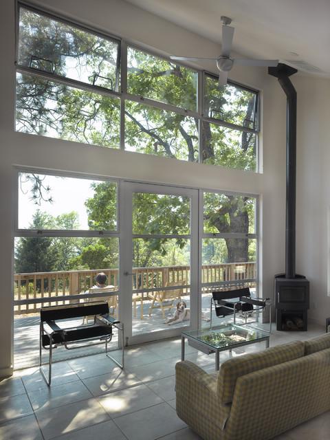 Modern Cabin Interior Midcentury Living Room